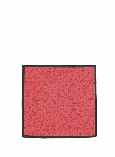 Beymen Club Beymen Club  Monogram Desenli 50x50 cm İpek Eşarp 101624361 Kırmızı